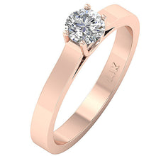 Load image into Gallery viewer, Solitaire Wedding Rose Gold Ring Side View-SR-664-4