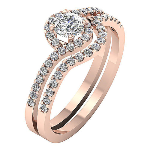 Designer Wedding Ring 14k Rose Gold-CR-139