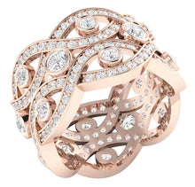 Load image into Gallery viewer, Rose Gold Cross View Ring-DETR203