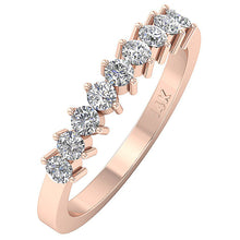 Load image into Gallery viewer, 14k White Yellow Rose Gold Designer Wedding Ring I1 G 0.70Ct Natural Round Diamond Prong Set 3.60MM