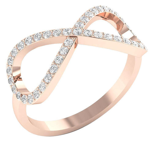 Rose Gold Prong Setting Ring-DWR202