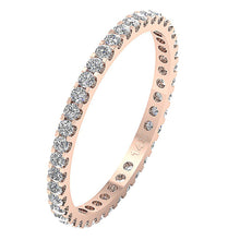 Load image into Gallery viewer, Stackable Anniversary Eternity Ring I1 G 0.70 ct Natural Diamond 14k Rose Gold