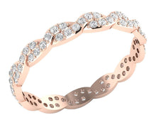 Load image into Gallery viewer, Stackable Wedding Eternity Ring 14k Rose Gold I1 G 0.75 ct Natural Diamond