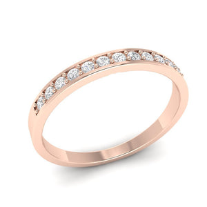 Natural Diamond Band 14k Rose Gold-WR-2A