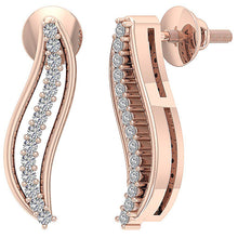 Load image into Gallery viewer, Screw Back Earrings Rose GOld-DE179