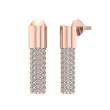 Load image into Gallery viewer, 14k Rose Gold Diamond Earring-DE201