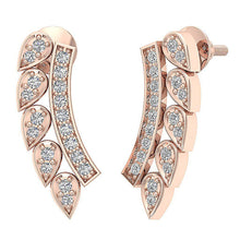 Load image into Gallery viewer, 14k Rose Gold Natural Diamond Earring-DE207
