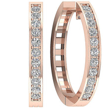 Load image into Gallery viewer, Natural Diamond Earrings 14k Rose Gold-DE38