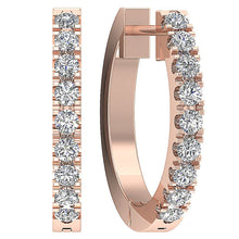 Load image into Gallery viewer, Natural Diamond Rose Gold Earring-E-576-5