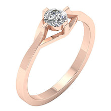 Load image into Gallery viewer, Prong Set Rose Gold Solitaire Engagement Ring-SR-752-4