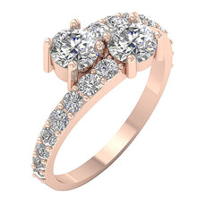 Load image into Gallery viewer, Forever Us Two Stone Designer Solitaire Ring SI1 G 1.85 Ct Natural Diamond