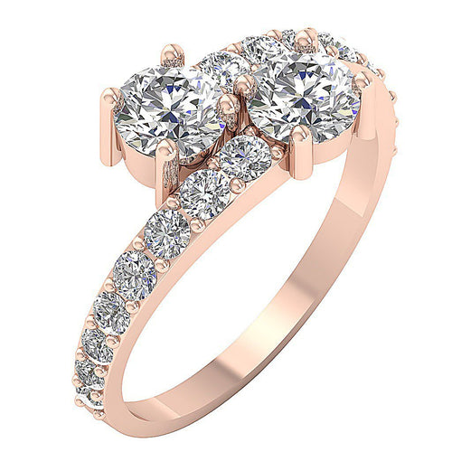 Solitaire Wedding Ring Rose Gold-DSR561