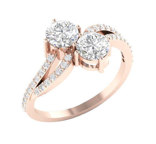 Solitaire 2-Stone Ring-DSR338
