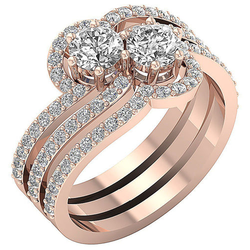Vintage Anniversary Ring Rose Gold-CR-193A