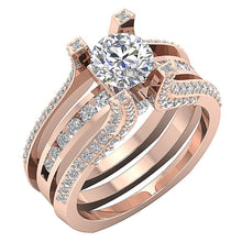 Load image into Gallery viewer, Vintage Anniversary Ring 14k Rose Gold-DCR109