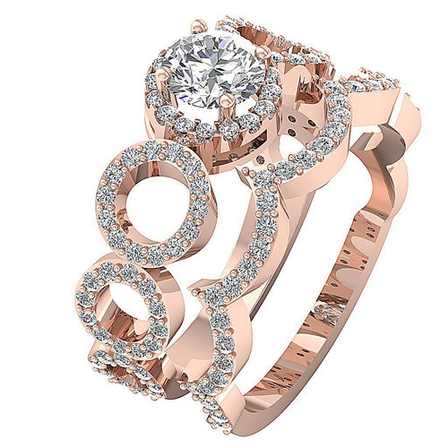 Vintage Anniversary Ring Prong Set 14k Rose Gold-DCR119