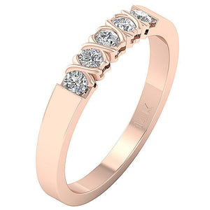 Vintage Anniversary Rose Gold Ring-DFR29