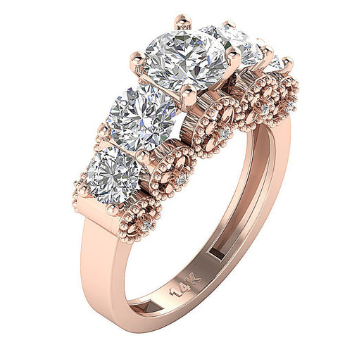 Vintage Anniversary Ring 14k Rose Gold-DFR53