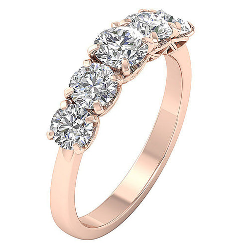 Vintage Anniversary 14k Rose Gold Ring-DFR55