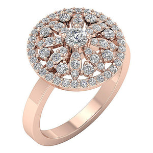 Rose Gold Filigree Engagement Ring-DRHR3-1