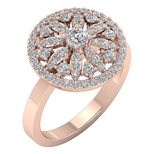 Load image into Gallery viewer, 14k White Yellow Rose Gold Prong Set Natural Diamond SI1 G 1.15 Ct Right Hand Wedding Ring 16.20MM