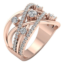 Load image into Gallery viewer, Prong Set Rose Gold Anniversary Right Hand Ring-DRHR5-1
