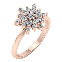 Load image into Gallery viewer, Rose Gold Wedding Anniversary Ring-DRHR6-1