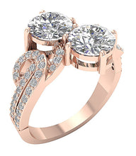 Load image into Gallery viewer, Vintage Anniversary Ring Rose Gold-DSR339