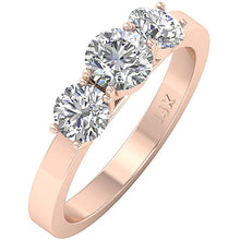 Load image into Gallery viewer, Rose Gold Anniversary Wedding Ring Side View-DTR101-TR-105-4