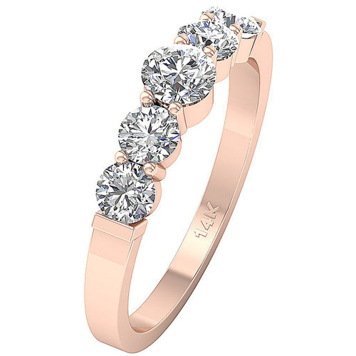 Vintage Anniversary Ring Rose Gold-FR-58B