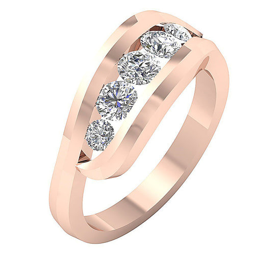 Vintage Anniversary Ring 14k Rose Gold-FR-77