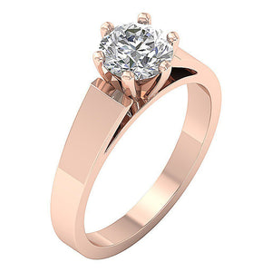 Rose Gold Solitaire Anniversary Ring-SR 766-1.80-4