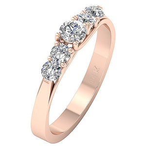 Prong Setting Round Diamonds Ring-DFR40
