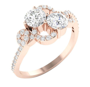 Cross View Engagement Ring-DSR337