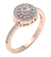 Load image into Gallery viewer, Solitaitre Engagement Ring Rose Gold-DSR634