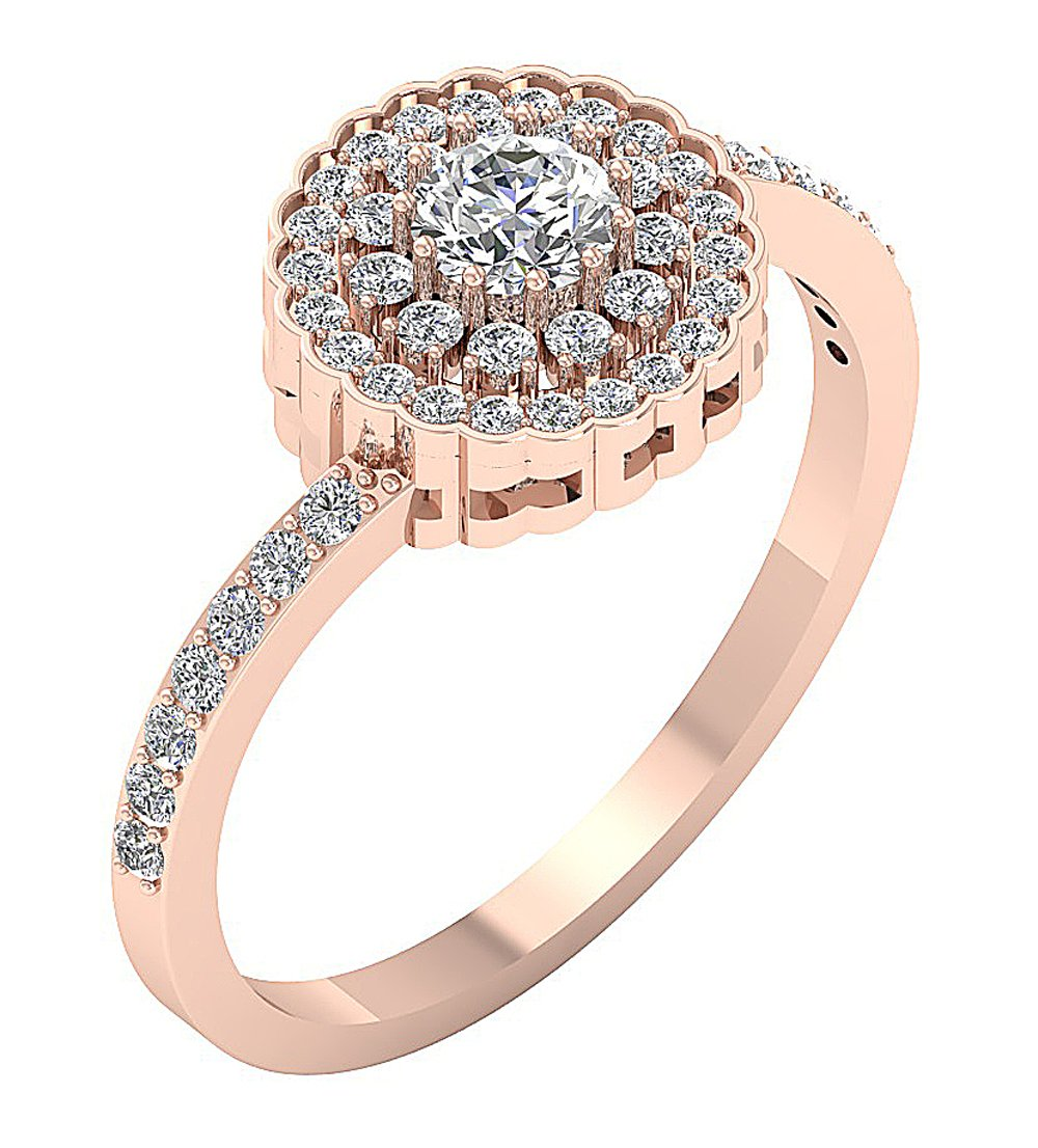 Solitaitre Engagement Ring Rose Gold-DSR634