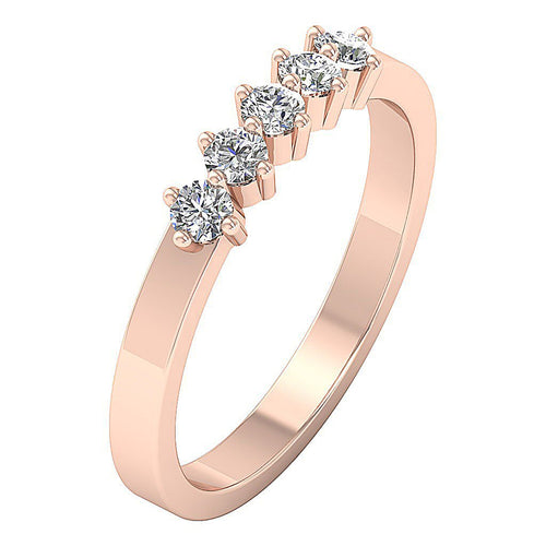 14k Rose Gold Wedding Ring-DFR24