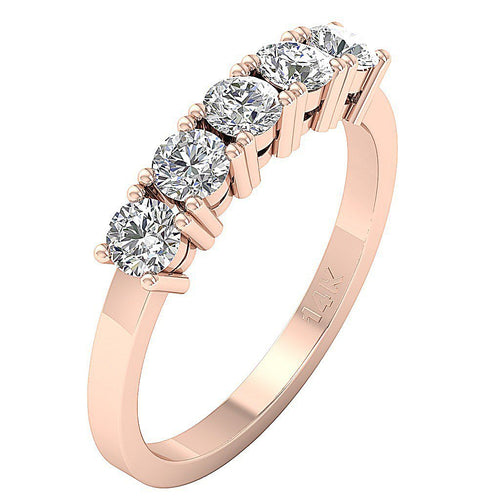 Vintage Wedding Ring Rose Gold-FR-69