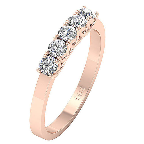 Rose Gold Wedding Ring-DFR14
