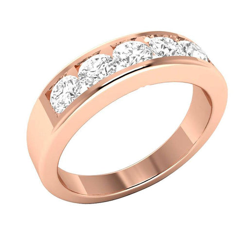 Rose Gold Wedding Ring-DFR51