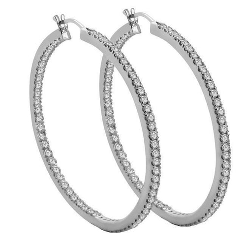 inside Outside Hoops Earrings-E-469
