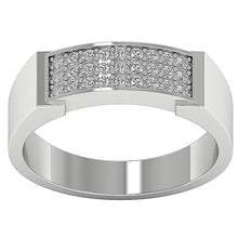 Load image into Gallery viewer, Mens Engagement Ring Natural Diamond Pave Set 14k Solid Gold I1 G 0.35Ct