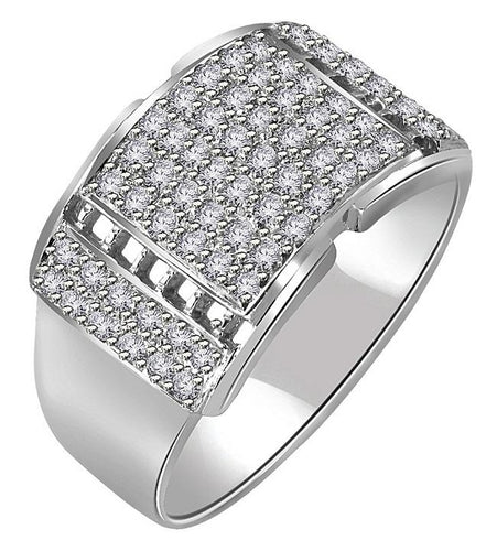 Diamond Ring 14k White Gold-MR-1