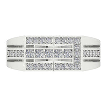 Load image into Gallery viewer, Mens Wedding Ring VVS1/VS1 E 0.80Ct 14k Solid Gold Natural Diamonds Channel Set Width 8.00MM