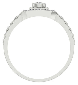 Bezel Setting Diamond Ring-MR-5