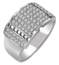 Load image into Gallery viewer, SI1/I1 G 0.70Ct 14k Solid Gold Natural Diamonds Mens Engagement Ring Pave Set Width 12.45MM