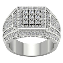 Load image into Gallery viewer, 14k Solid Gold SI1/I1 G 2.55Ct Mens Wedding Ring Natural Diamond Prong Set Width 15.30MM