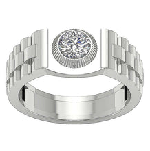 Load image into Gallery viewer, Top View White Gold Ring-MR-55
