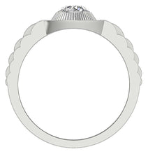 Load image into Gallery viewer, Bezel Setting Solitaire Ring-MR-55