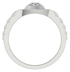 Bezel Setting Solitaire Ring-MR-55